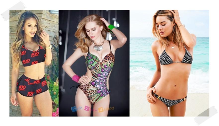 2015 Plaj Modası 3 Boyutlu Mayo Modelleri
