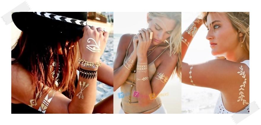 2015 Plaj Modası Gold Dövme Modelleri