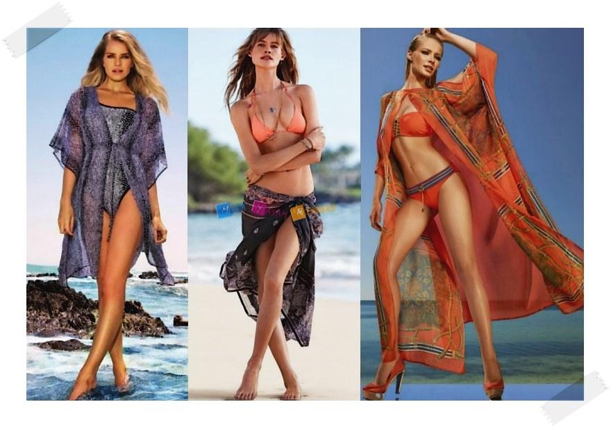 2015 Plaj Modası Transparan Pareo Modelleri