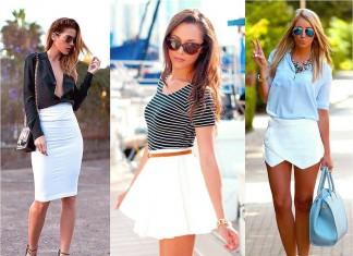 2015 Beyaz Etek Modelleri