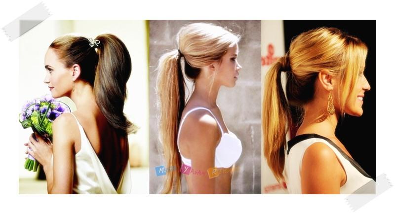 Uzun Saçlı Kadınlar İçin Stil Önerileri - At Kuyruğu