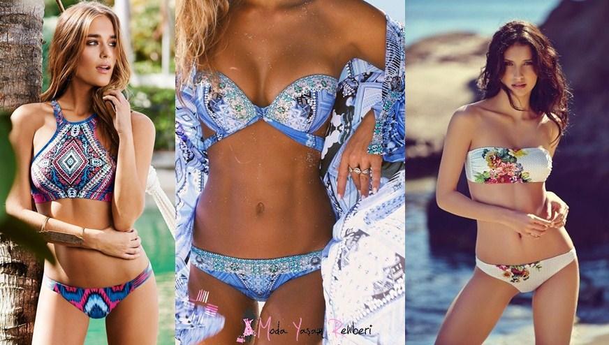 Baskılı Bikini Modelleri