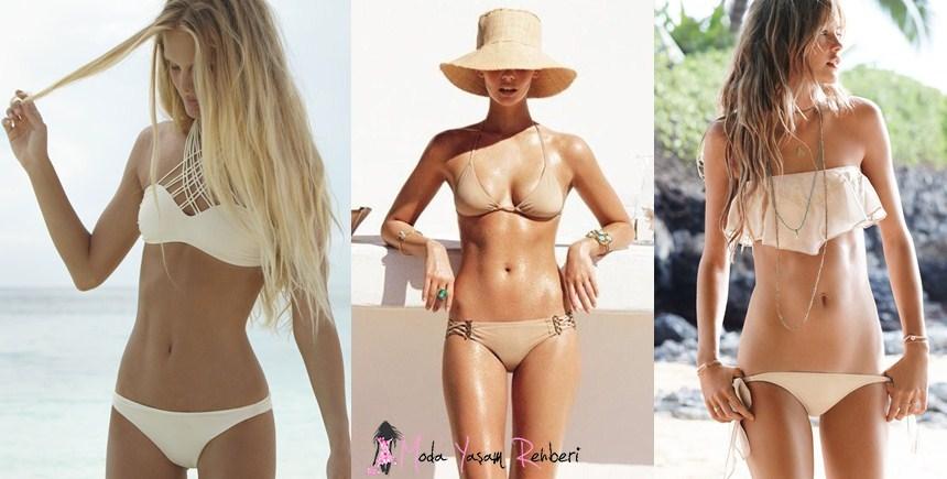 Krem Rengi Bikini Modelleri